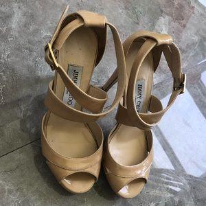 Jimmy Choo Patent Leather Platform Sandal